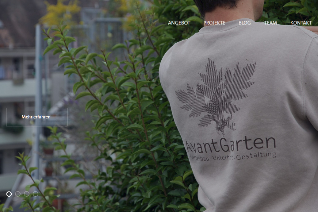 Website AvantGarten